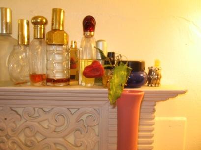 Vintage Pink Vase with Pepper Plant