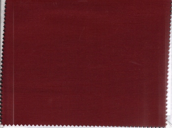 Red satin fabric  to be used as trim on the contour of the cornice and as an inset on the lead edges of the lined panels