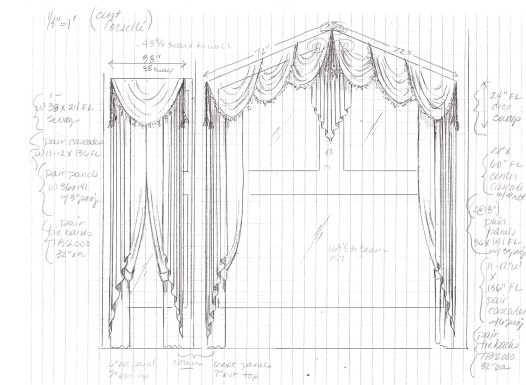 More rendered version of initial measurement drawings