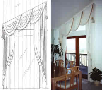 side by side of drawing and final interpretation