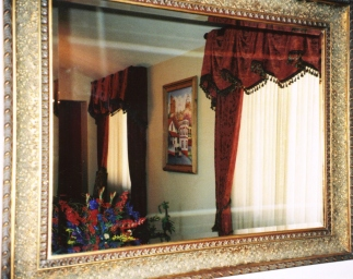 Mirror view with floral
