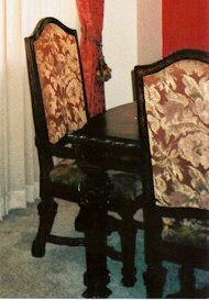 Heavy looking dining set