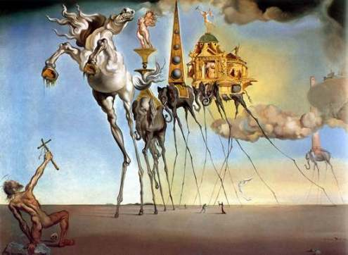 Salvador Dali painting hand re-painted by quality artists