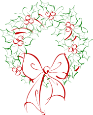 Merry Christmas Holly Wreath Graphic