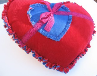 pocket, Will You Marry Me heart pillow