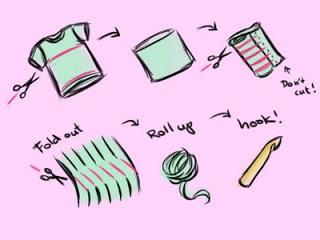 how to make t-shirt yarn graphic
